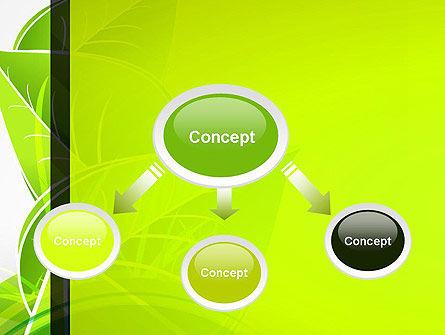 Green Neon Leaves PowerPoint Template, Slide 4, 13235, Nature & Environment — PoweredTemplate.com