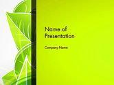 Nature & Environment: Green Neon Leaves PowerPoint Template #13235