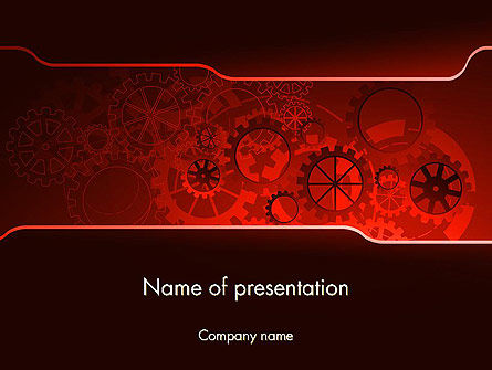 Inside Red Clock PowerPoint Template, 13236, Business Concepts — PoweredTemplate.com