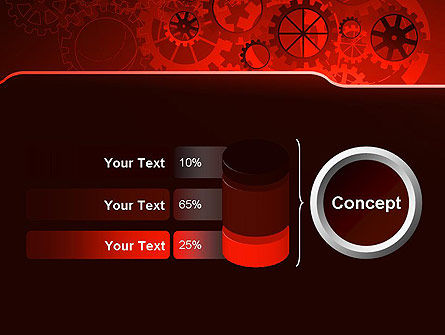 Inside Red Clock PowerPoint Template Slide 11