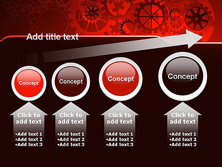 Inside Red Clock PowerPoint Template Slide 13