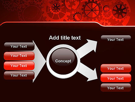 Inside Red Clock PowerPoint Template Slide 14