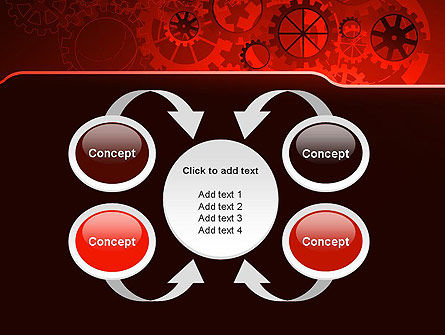 Inside Red Clock PowerPoint Template Slide 6