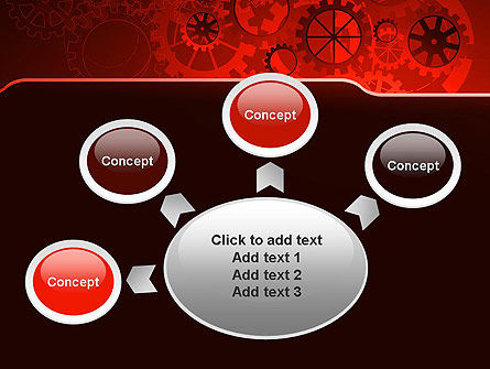 Inside Red Clock PowerPoint Template Slide 7