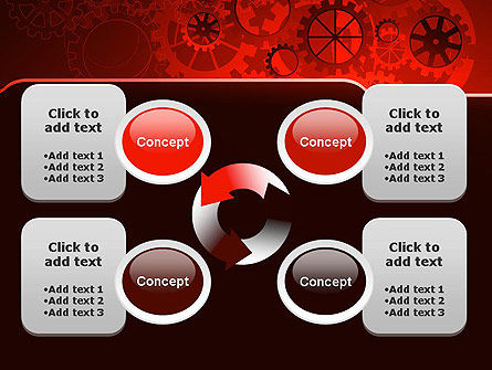 Inside Red Clock PowerPoint Template Slide 9