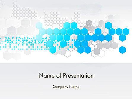 Technology and Science: Path Through Hexagons PowerPoint Template #13237