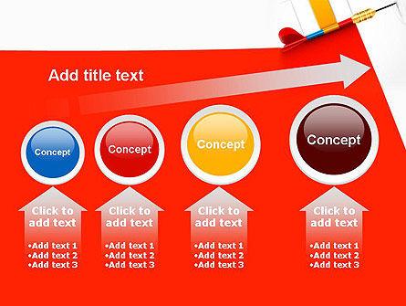 Darts Hitting Target PowerPoint Template Slide 13