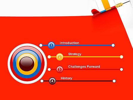Darts Hitting Target PowerPoint Template, Slide 3, 13238, Business Concepts — PoweredTemplate.com