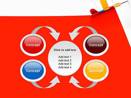 Darts Hitting Target PowerPoint Template Slide 6