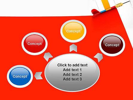 Darts Hitting Target PowerPoint Template Slide 7