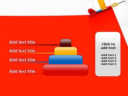 Darts Hitting Target PowerPoint Template Slide 8