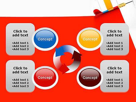 Darts Hitting Target PowerPoint Template Slide 9