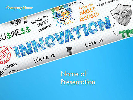 Innovation Sketch PowerPoint Template, 13239, Business Concepts — PoweredTemplate.com