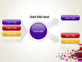 Scattered Colored Cubes PowerPoint Template#14