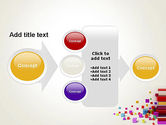 Scattered Colored Cubes PowerPoint Template#17