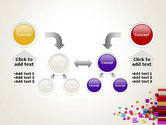 Scattered Colored Cubes PowerPoint Template#19
