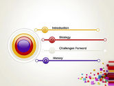 Scattered Colored Cubes PowerPoint Template#3