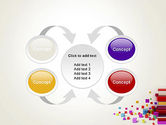 Scattered Colored Cubes PowerPoint Template#6