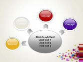 Scattered Colored Cubes PowerPoint Template#7
