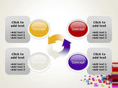 Scattered Colored Cubes PowerPoint Template#9