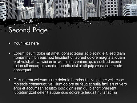 Business Skyscrapers PowerPoint Template, Slide 2, 13242, Construction — PoweredTemplate.com