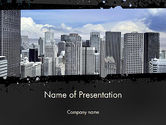 Construction: Business Skyscrapers PowerPoint Template #13242