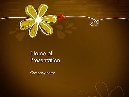 Brown Floral PowerPoint Template, 13243, Nature & Environment — PoweredTemplate.com