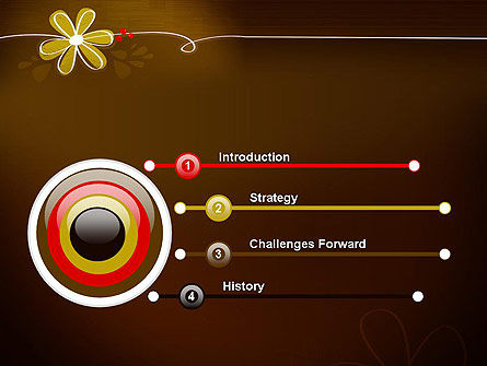 Brown Floral PowerPoint Template, Slide 3, 13243, Nature & Environment — PoweredTemplate.com