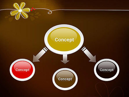 Brown Floral PowerPoint Template, Slide 4, 13243, Nature & Environment — PoweredTemplate.com