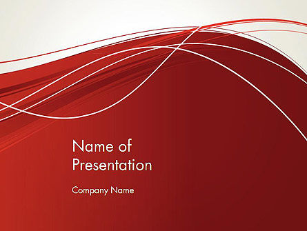 Abstract/Textures: Red Abstract Composition PowerPoint Template #13244