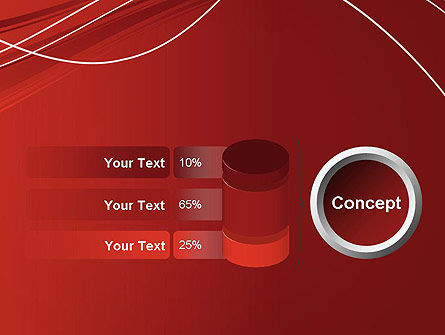 Red Abstract Composition PowerPoint Template Slide 11