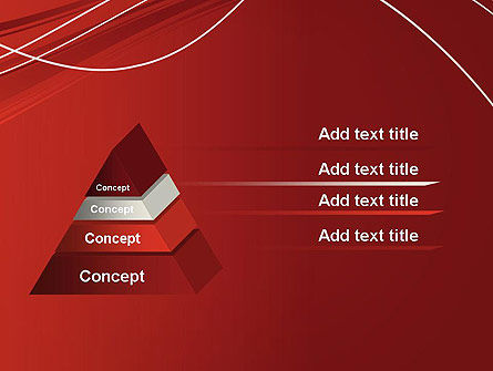 Red Abstract Composition PowerPoint Template Slide 12