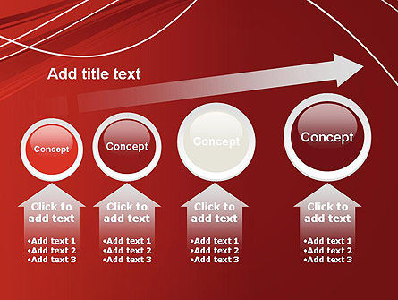 Red Abstract Composition PowerPoint Template Slide 13