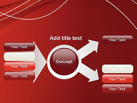 Red Abstract Composition PowerPoint Template Slide 14