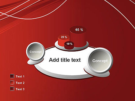 Red Abstract Composition PowerPoint Template Slide 16