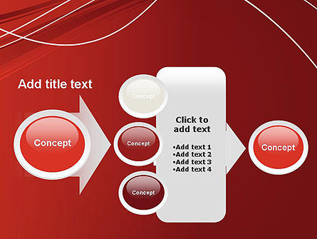 Red Abstract Composition PowerPoint Template Slide 17
