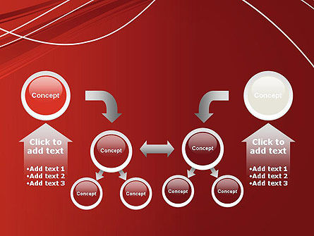 Red Abstract Composition PowerPoint Template Slide 19