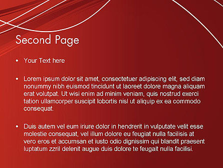 Red Abstract Composition PowerPoint Template Slide 2