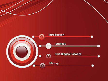Red Abstract Composition PowerPoint Template Slide 3