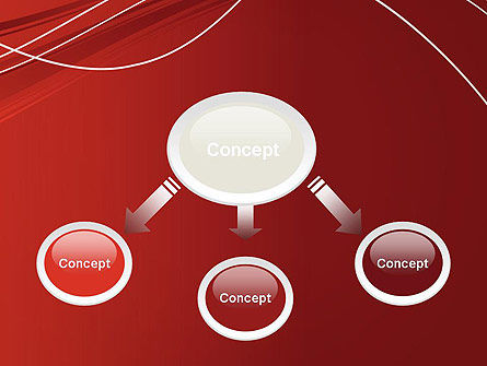 Red Abstract Composition PowerPoint Template Slide 4