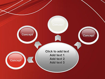 Red Abstract Composition PowerPoint Template Slide 7