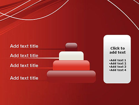Red Abstract Composition PowerPoint Template Slide 8