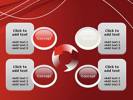 Red Abstract Composition PowerPoint Template Slide 9