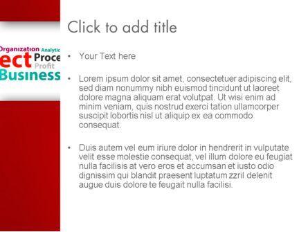 Project Word Cloud PowerPoint Template, Slide 3, 13248, Education & Training — PoweredTemplate.com