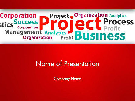 Education & Training: Project Word Cloud PowerPoint Template #13248