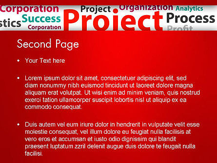 Project Word Cloud PowerPoint Template Slide 2
