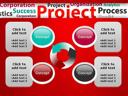 Project Word Cloud PowerPoint Template Slide 9