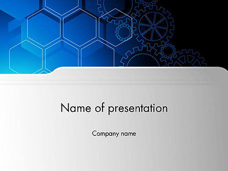 Business: Binnen Machine Abstract PowerPoint Template #13249