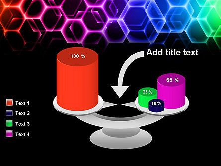 Rainbow Hexagons PowerPoint Template Slide 10