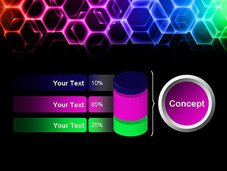 Rainbow Hexagons PowerPoint Template Slide 11